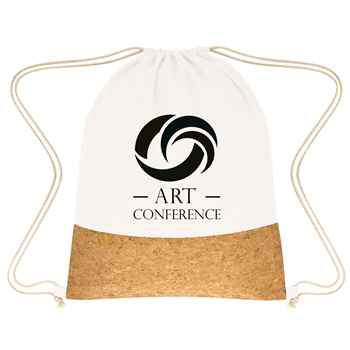 Somerset Cork Drawstring Backpack - Personalization Available