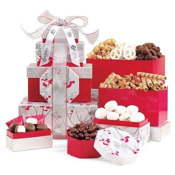 Celebrate the Season Gourmet Sweets & Treats Tower