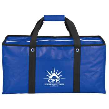 Oversized Laminated Non-Woven Zippered Tote - Personalization Available