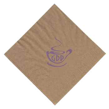 Kraft Folded 2-Ply Beverage Napkins - Personalization Available