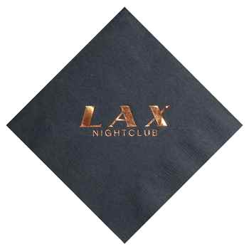 Foil-Stamped Colored Napkins - Personalization Available