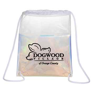 Iridescent Drawstring Bag - Personalization Available
