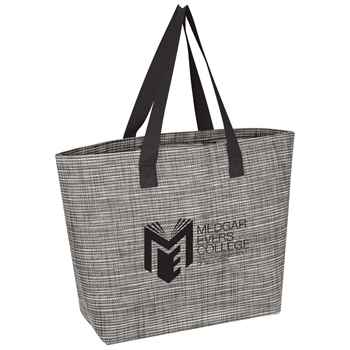 Heathered Mesh Tote Bag - Personalization Available