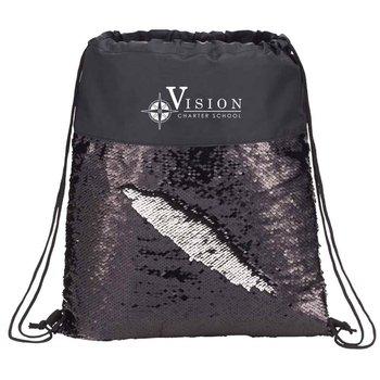 Mermaid Sequin Drawstring Bag - Personalization Available