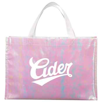 Iridescent Non-Woven Shopper Tote - Personalization Available