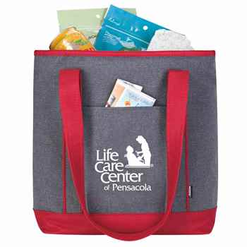 Koozie® Two-Tone Lunch-Time Kooler Tote - Personalization Available