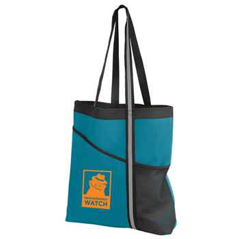 Dual Pocket Reflective Accent Tote - Personalization Available