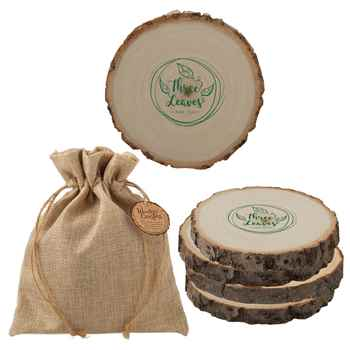 Woodlands Coaster Set - Personalization Available