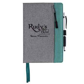 Front Zip Pocket Journal - Personalization Available