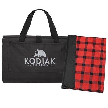 Buffalo Plaid Fleece Picnic Blanket - Personalization Available