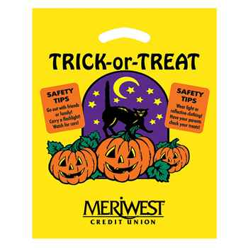 Halloween Trick-or-Treat Die-Cut Bag - Yellow - Personalization Available