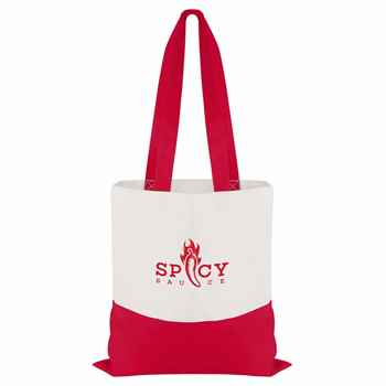 Cotton Colored Accent Flat Tote - Personalization Available