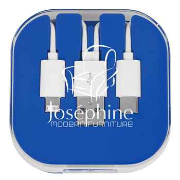 3-In-1 Charge Cable With Phone Stand - Personalization Available