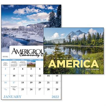 Landscapes of America 2020 Calendar - Window - Personalization Available