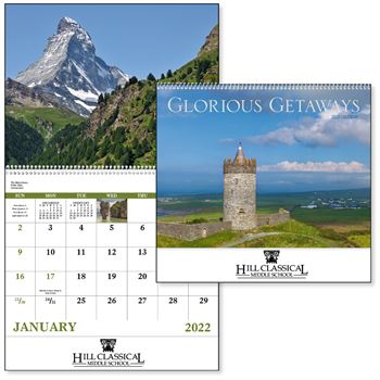 Glorious Getaways 2022 Wall Calendar - Spiral - Personalization Available