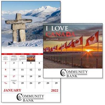 I Love Canada 2021Calendar - Spiral - Add Your Personalization