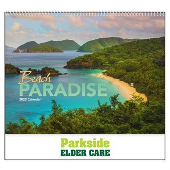 Beach Paradise 2021 Calendar- Spiral - Add Your Personalization