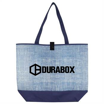Blue Denim Tote Bag - Personalization Available
