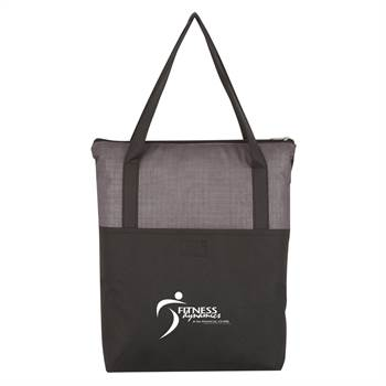 Crosshatch Non-Woven Zippered Tote Bag - Personalization Available