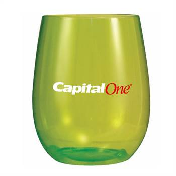 Plastic Stemless Wine Glass 12-oz., Full Color Digital Personalization Available