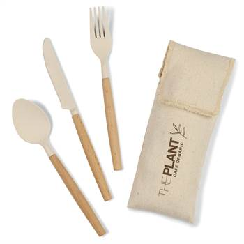 Gaia Bamboo Fiber Cutlery Set - Personalization Available