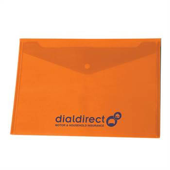 Translucent Snap Close Document Folder - Personalization Available