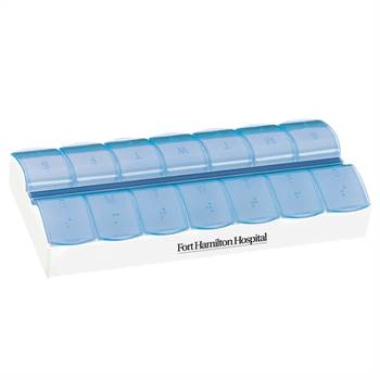 AM/PM Jumbo Easy Scoop Pill Box - Personalization Available