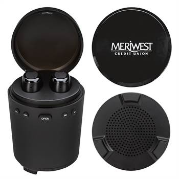 Music Station with TWS Earbuds and Speaker - Personalization Available
