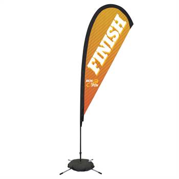 8' Premium Teardrop Sail Sign (Scissor Base) - Full-Color Dye Sublimation Personalization Available
