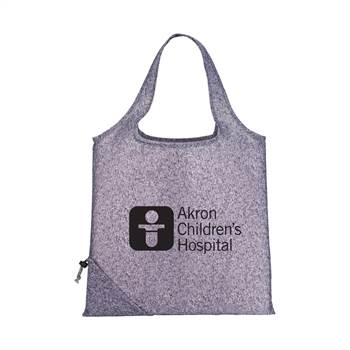 Graphite Bungalow Foldaway Tote - Personalization Available