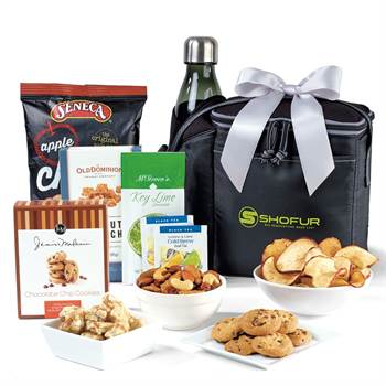 Nico Snack Pack Gourmet Cooler with Geyser Bottle 25-Oz. - Personalization Available