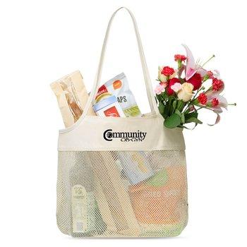 Parisian Cotton Market Bag - Personalization Available