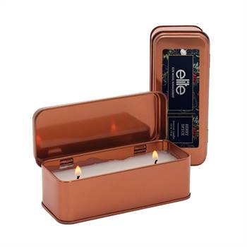 Scented Copper Rectangular Candle 5-Oz. - Full-Color Personalization Available
