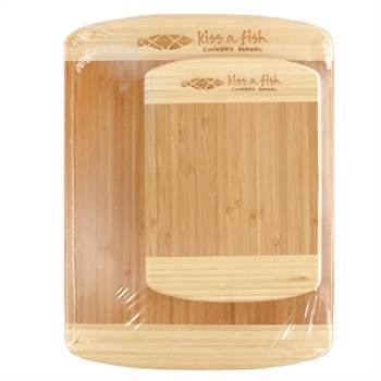 Bamboo Cutting Board Set - Laser-Engraved Personalization Available