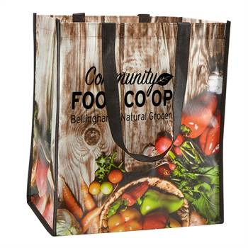 Laminated Grocery Tote - Personalization Available