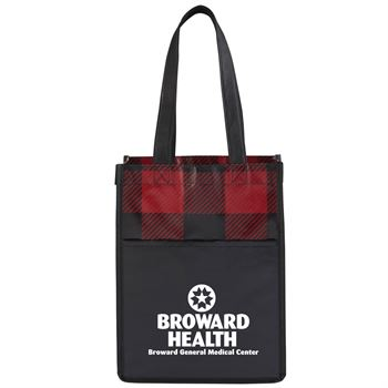 Buffalo Plaid NW Mini Gift Tote - Personalization Available