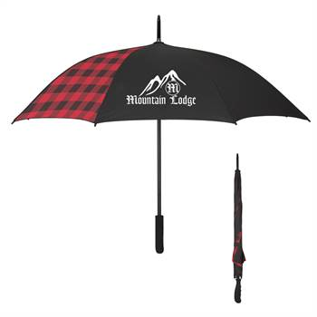 Northwoods Buffalo Plaid Umbrella 46