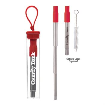 Sip to Go Collapsible Straw Kit - Personalization Available