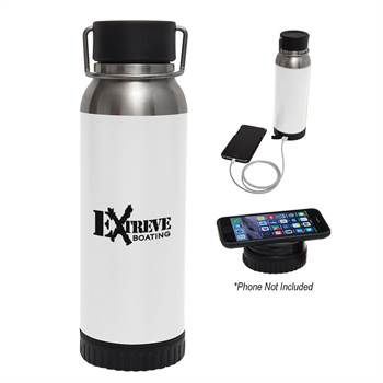 Carter Stainless Steel Bottle 22-Oz. with Wireless Charger and Power Bank - Personalization Available