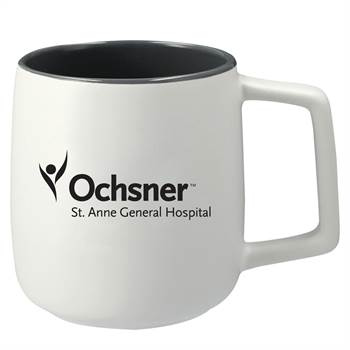 Sienna Ceramic Mug 14-Oz. 2-in-1 Gift Set - Personalization Available
