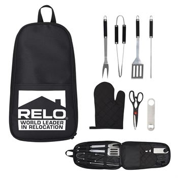 7-Piece Pit Master BBQ Set In Carrying Case - Personalization Available