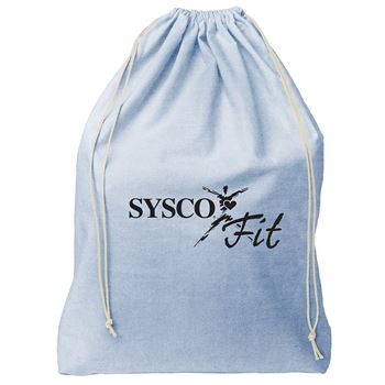 Continued Bubbles Drawstring Bag - Denim Canvas - Personalization Available