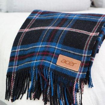 Wellington Plaid Wool Blanket Throw- Debossed Personalization Available