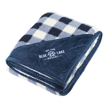 Field & Co.® Double-Sided Plaid Sherpa Blanket - Personalization Available