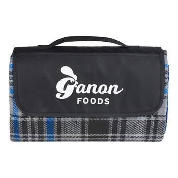 Knitted Plaid Picnic Blanket - Personalization Available