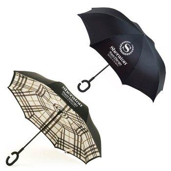 Stratus Reversible Umbrella - Plaid - Personalization Available