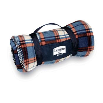 Plaid Travel Blanket - Personalization Available
