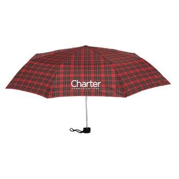 Pocket Plaid Umbrella - Personalization Available