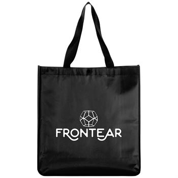 Eco-Friendly Oversized Laminated Non-Woven Snap Tote - Personalization Available