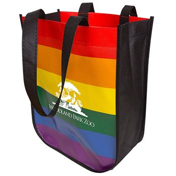 Rainbow Laminated Fashion Tote Bag - Personalization Available